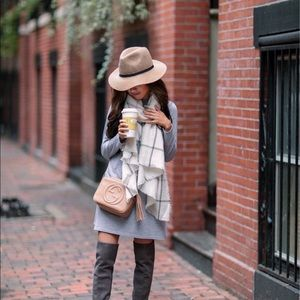 Grey Dress and Matching Scarf for Fall